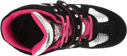 Skechers Double Trouble 80190L Mädchen Sneaker Schwarz (BKSP)
