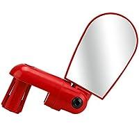Zarupeng-Mini giratoria bicicleta universal universal bicicleta ciclismo espejo retrovisor manillar (Rojo)