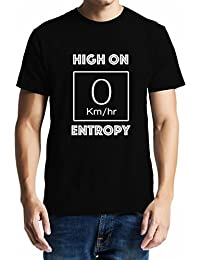 GeekDawn Men's Round Neck Geek T-Shirt|Science T-Shirt- High On Entropy