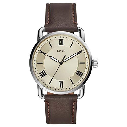 FOSSIL Copeland - Reloj de Cuero marrón de Tres manecillas - FS5663