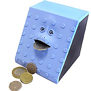 Face Bank Blue Dots Design Munching Money Box by Namco Bandai