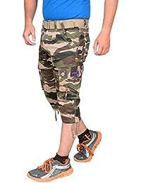Krystle Boy's Army 3/4th Shorts| Capri