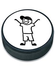 Ice Hockey Puck Stick Figurine famille