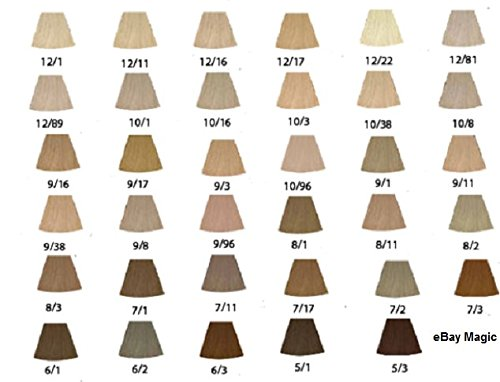 Wella Koleston Colour Lightest Ash Violet Blonde 10 16