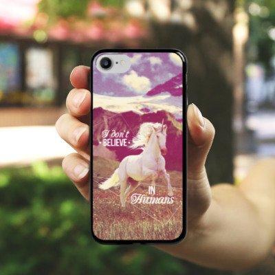 Apple iPhone X Silikon Hülle Case Schutzhülle Einhorn Unicorn Sprüche Hard Case schwarz