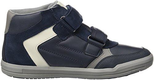 Geox J Arzach B, Baskets Hautes Mixte Adulte Bleu (Navy/grey)