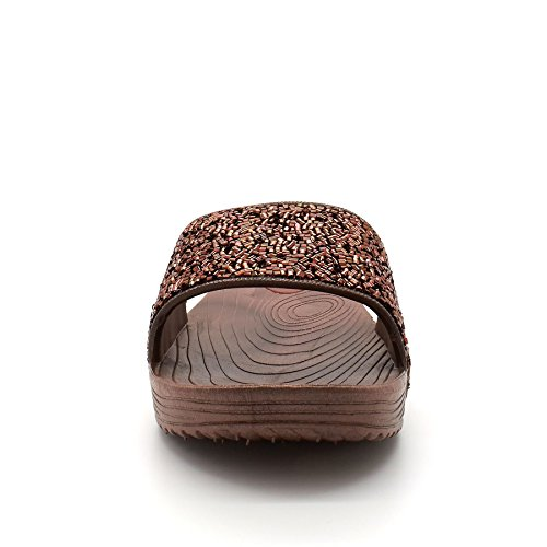 London Footwear , Ouvertes à larrière femme Marron - marron