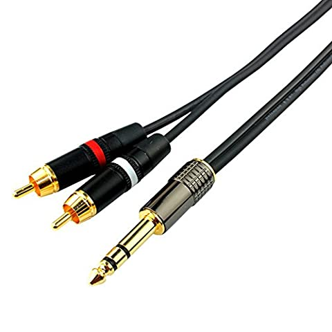 Audio et Vidéo Accessoires OFC fiches bananes / RCA/ Le câble coaxial / câble 6.35 vers 2X RCA (câble 6.35 vers 2X RCA)