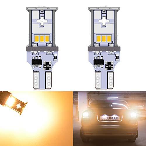 KaTur 2pcs extrêmement Lumineux 1000LM T15 LED Ampoule de stationnement Orange T15 921 912 T10 W15W 10-SMD CREE 3020 Feux de Remplacement de Voiture Feux de recul, Orange