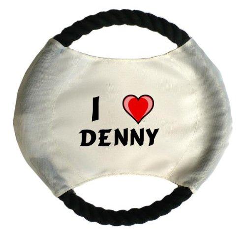 personalisierter-hundefrisbee-mit-aufschrift-ich-liebe-denny-vorname-zuname-spitzname