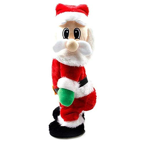 Natale musicale bambola babbo natale che canta e balla wiggle hip santa claus divertente elettrico giocattolo per decorazione natalizia bambini regalo