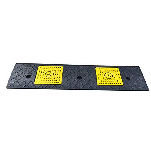 2 x Rampas de la Acera de Goma de Alta Resistencia con Pedal Antideslizante Para Coche Caravana Silla de Ruedas Discapacitado