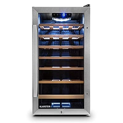 Klarstein Vivo Vino Refrigerator (Various Capacities, Stainless Steel, LED Interior)