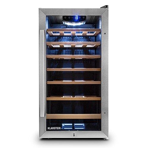 Klarstein Vivo Vino 26 • Weinkühlschrank • Getränkekühlschrank • 88 Liter • 26 Flaschen...