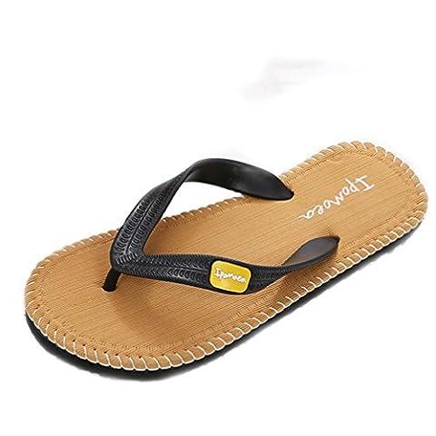 HCFKJ Chaussures D'éTé Hommes Sandales Homme Pantoufles à L'IntéRieur Ou