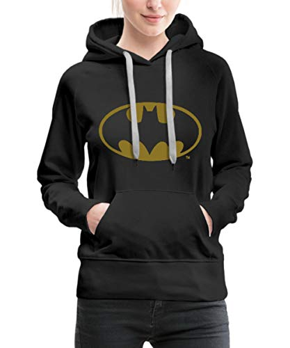 Spreadshirt DC Comics Batman Logo Gold Frauen Premium Hoodie, L (40), ()