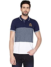 Vettorio Fratini By Shoppers Stop Mens Short Sleeves Stripe Polo T-Shirt