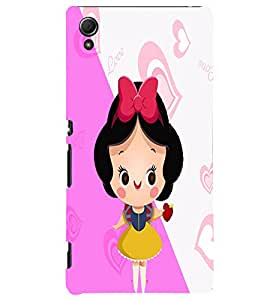 Fuson 3D Printed Girly Designer back case cover for Sony Xperia Z3 Plus - D4577