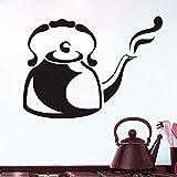 Cmdyz Wandaufkleber Dämpfen Cafe Wasserkocher Küche Restaurant Große Aushöhlen Vinyl Aufkleber Wandkunst Aufkleber Klebstoff Wandtattoo Größe 44 * 32 Cm