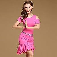 Danza del Ventre Abiti per Donna Addestramento Cotone Modal con Balze 2 Pezzi  Maniche Corte Naturale 8cc56610cb9