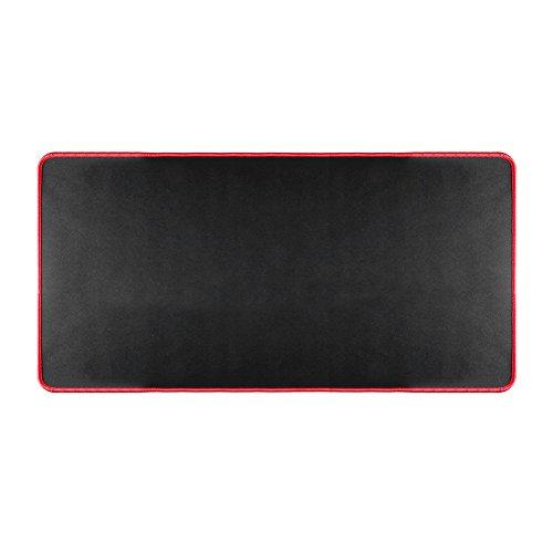 Preisvergleich Produktbild Demiawaking 600x300mm große Büro Mausunterlage Anti Rutsch-Gaming Mouse Pad Rastkante DIY Maus Laptop Tabelle Tastatur Matten für PC Laptop Computer (Rot)