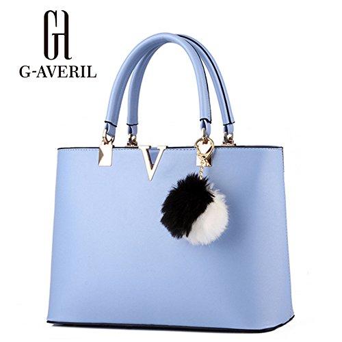 G-AVERIL, Borsa a mano donna bianco White Blue