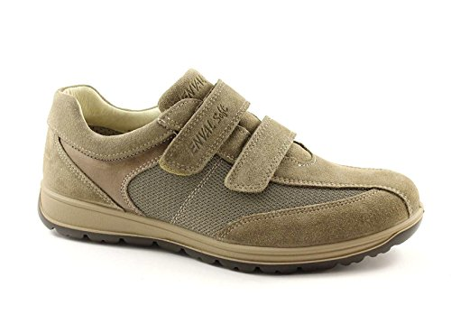 ENVAL SOFT 38982 tortora grigio scarpe uomo comfort pelle strappi 42