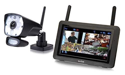"""Switel HSIP6000, HD - Videoüberwachungs-System mit LED-Licht, drahtlos, wetterfest, Nachtsichtfunktion, Gegensprechfunktion mit 7\"""" Touchscreen-Monitor"""