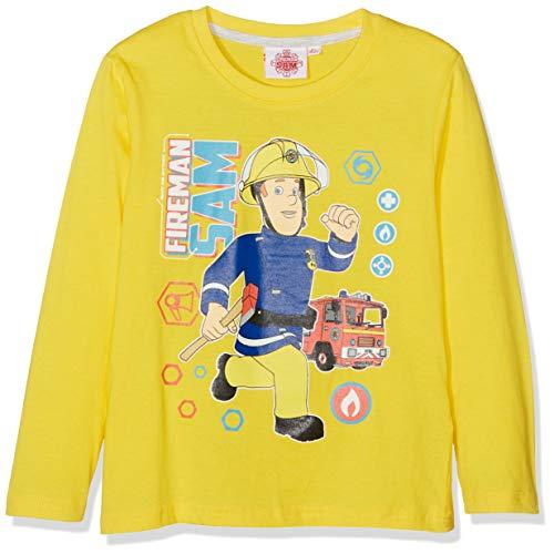 Sam Le Pompier Jungen T-Shirt 4741 Gelb Jaune, 4 - Gelb Feuerwehrmann Kostüm
