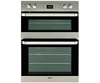 Beko ODF22300X Fanned Electric Built In Double Oven - Stainless Steel