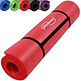 Gymnastikball - Physionics Pilates Yoga und Gymnastikmatte 180 x 60 x 1.5 cm Red, FNMT02-1.5