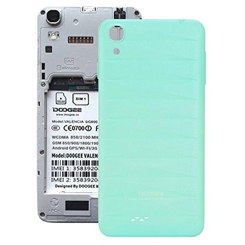 Piezas de repuesto de teléfonos móviles, La batería cubierta trasera para Doogee VALENCIA DG800 ( Color : Azul )