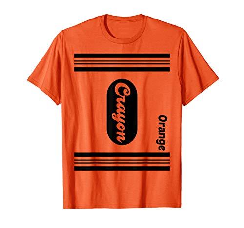 Orange Crayon Halloween Kostüm - Orange Wachsmalstift Halloween Paar Freund Gruppe