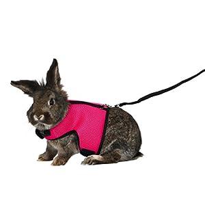 Trixie Softgeschirr mit Leine für große Kaninchen, Nylon, 25–40 cm, 1,20 m (Farblich Sortiert)