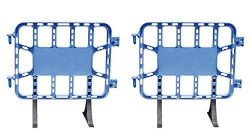 Valla de plástico azul peatonal obra, valla reforzada con patas extraíbles de 1 metro (2- Vallas)
