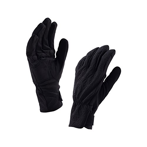 SealSkinz da donna Womens All Weather Cycle Gloves, Donna, Womens All Weather Cycle Gloves                              , nero/carbone,