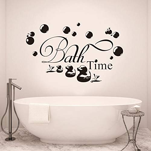 Art Quotes Removable Vinyl Wall Stickers Duck Bubble Lettering Kids Decal  57x35cm ()