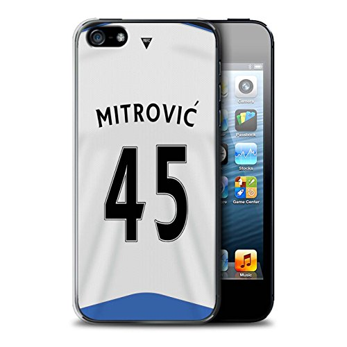 Offiziell Newcastle United FC Hülle / Case für Apple iPhone 5/5S / Colback Muster / NUFC Trikot Home 15/16 Kollektion Mitrovic