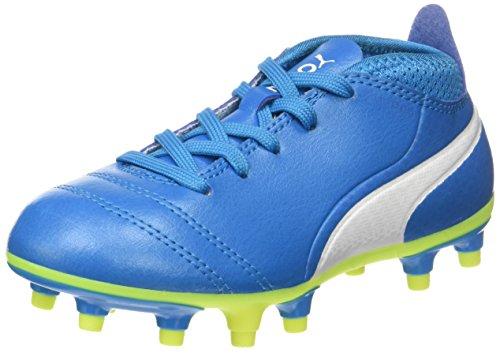 Puma Herren One 17.4 FG Fußballschuhe, Blau (Atomic Blue-White-Safety Yellow), 41 EU
