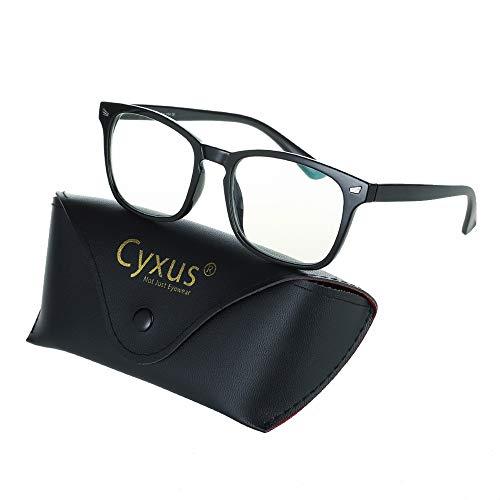 Cyxus Blaulichtfilter Computer Gläser [TR90 Rahmen] zum Blockieren von UV-Kopfschmerzen, Anti-Eyestrain-Lesebrillen, Unisex (Damen/Herren)