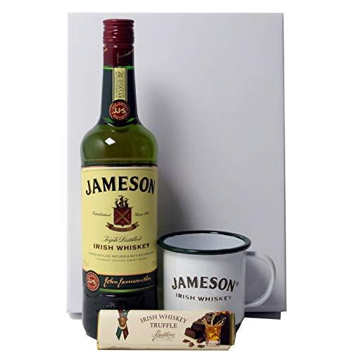 John Jameson Irish Whiskey Geschenkpaket mit Original Trinkbecher