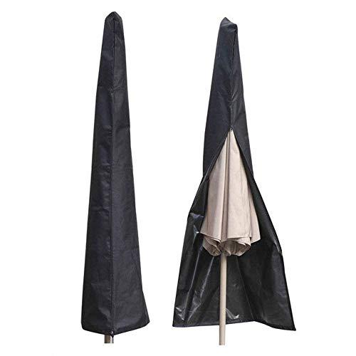Donpandas Sonnenschirm, wasserfest Outdoor Extra großer Regenschirm Freischwinger Cover Reißverschluss, atmungsaktiv 210D Oxford Stoff, mit Speicher Tasche mit Reißverschluss (schwarz)