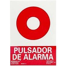 WOLFPACK 15051210 - Cartel Pulsador Alarma 30x21 cm
