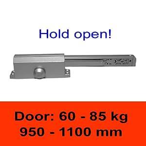 TÖSCH 604G - Ferme-porte avec bras à coulisse, retard à la fermeture, poids de porte: 60-85 kg / largeur de porte: 950-1100 mm