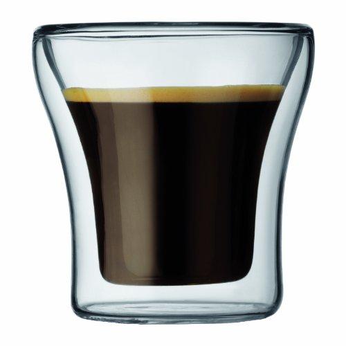 Bodum - 4554-10 - Assam - Set 2 Verres Double Paroi espresso - 9 cl