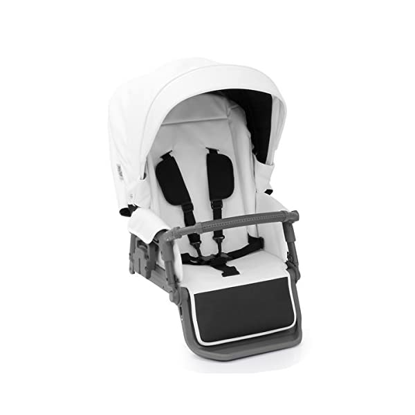 BabyStyle Prestige 2 Fabric Pack - Blizzard Babystyle Multi position, Lie-Flat Seat Unit Ventilated Pram Body Compatible with any BabyStyle Prestige 2 Chassis (Sold separately) 2