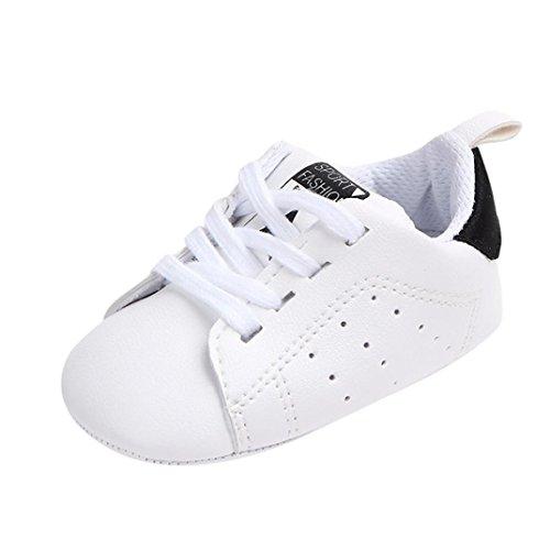 Sterne Drucken Freizeitschuhe Kleinkind Kinder, DoraMe Neugeborenes Baby Junge Mädchen Sneaker Anti-Rutsch Weiche Sohle Einzelne Schuhe für 3-12 Monate (Age:6~9 Monate/Size:12, Schwarz) Nike-schuh-baby-mädchen