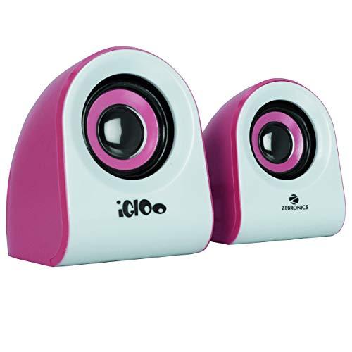 Zebronics Igloo Multimedia Speaker with Volume Control (Pink)