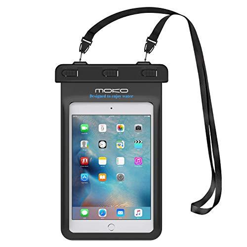 MoKo Wasserdichte Hülle Tasche für iPad Mini 2019, iPhone 7 7 Plus, Galaxy Note8, iPhone 8,Samsung Tab A 7.0 / S2 8.0, ASUS ZenPad S 8.0, Tab 2 A7-10/30, Tablet (bis zu 8.4