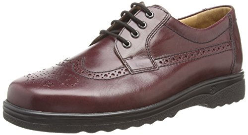 Ganter  ERIC, Weite I, Derbies à lacets hommes Rouge - Rot (bordo 4500)